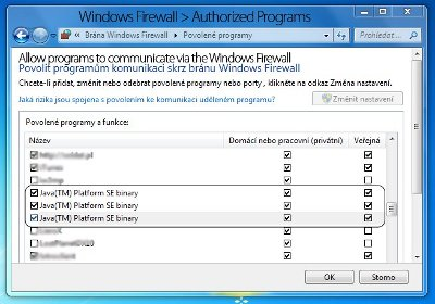 Windows Firewall - Authorized Programs