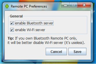 Preferences - enable BT or Wi-Fi