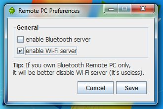 Preferences - enable Wi-Fi