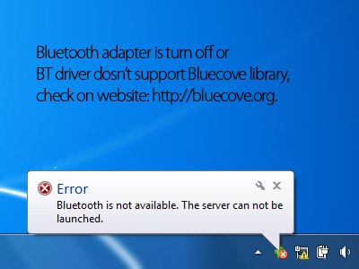 Bluetooth server stopped