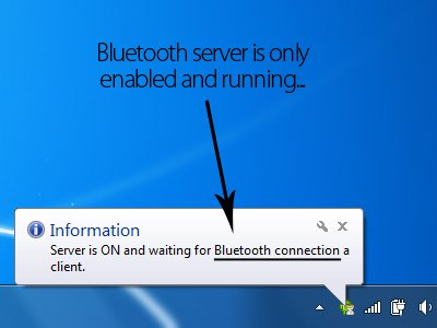 Bluetooth server is running